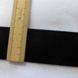 織ゴム(平ゴム)25mm巾  黒  数量1(1m)110円 国産|sarasa-nuno