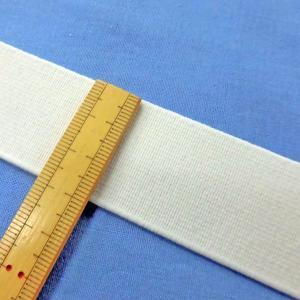 織ゴム(平ゴム)30mm巾  白 数量1(1m)120円 国産|sarasa-nuno
