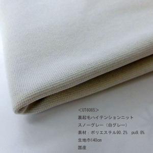 裏起毛ハイテンションニット (UT6085)無地/スノーグレー(白グレー系) 生地巾140cm 数量1(50cm)350円 国産|sarasa-nuno