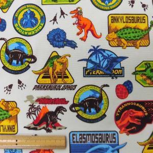綿オックスフォードPT生地(AP11402-2)メンズプリント/恐竜  110cm巾 数量1(50cm)350円 国産(コスモテキスタイル生地)|sarasa-nuno