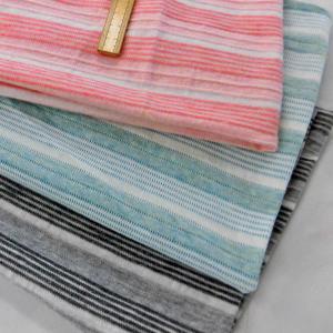 綿天竺ボーダーニット(YNT233) 生地巾 170cm 数量1(50cm)350円 国産 sarasa-nuno