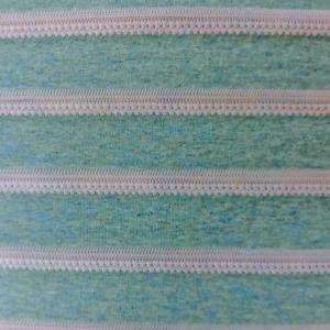 綿天竺ボーダーニット(S2835)ミント 生地巾 170cm 数量1(50cm)350円 国産 sarasa-nuno