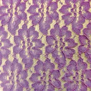 ポリエステルコードレース生地(YRN208)ラベンダー 生地巾110cm  数量1(50cm)220円 国産 sarasa-nuno