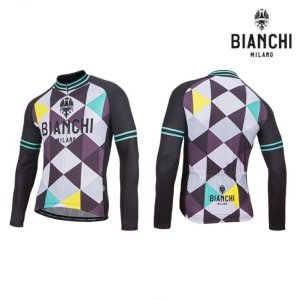 Bianchi MILANO ビアンキミラノ FWジャージ LEGGENDA1 / パープル4010 / サイクルウエア 長袖ジャージ|sas-ad