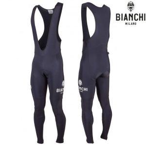 Bianchi MILANO ビアンキミラノ FWビブタイツ MEZZOLA / ブラック 4000 / サイクルBib Tights | Lサイズ|sas-ad