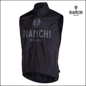Bianchi MILANO ビアンキミラノ FWベスト PASSIRIA / ブラック / サイクルウエア/4000|Sサイズ|sas-ad