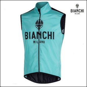 Bianchi MILANO ビアンキミラノ FWベスト PASSIRIA / チェレステ / サイクルウエア/4300|Mサイズ|sas-ad