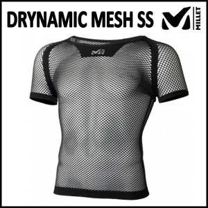 MILLET (ミレー) DRYNAMIC MESH SS (ドライナミック メッシュ ショートスリーブ) (ブラック)|sas-ad