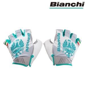 Bianchi ビアンキ サマーグローブ イーグル -4℃/ ホワイトX チェレステ/ サイクルウエア グローブ |Sサイズ|sas-ad