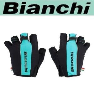 Bianchi ビアンキ サマーグローブ / ブラックX チェレステ/ サイクルウエア グローブ |Mサイズ|sas-ad