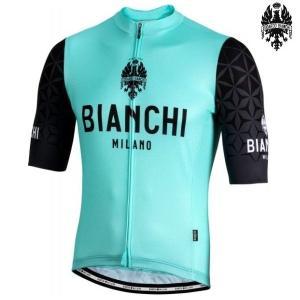 Bianchi MILANO ビアンキミラノ SSジャージ PEDASO / チェレステ 4300 / サイクルウエア 半袖ジャージ|Mサイズ|sas-ad