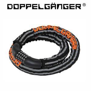 ドッペルギャンガー ダイヤルコンボ アーマードケーブルロック / 黒×オレンジ / DKL320-DP|sas-ad