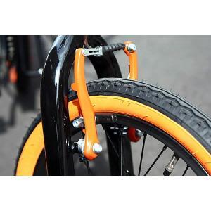 折り畳み自転車 ドッぺルギャンガー 16インチアルミ折りたたみ自転車6段変速付 104 ブラックバレット II  (BK/OR) (DOPPELGANGER 104-DP blackbullet II)|sas-ad|02