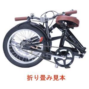 折り畳み自転車 16インチ折りたたみ自転車 マイパラスM-101  (ブラック) (MYPALLAS M-101) 折畳み自転車|sas-ad|03