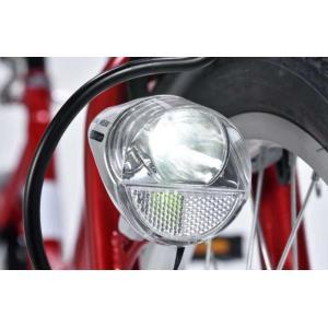 折り畳み自転車 20インチ6段変速オートライト付き折りたたみ自転車 マイパラスM-204MERRY  (レッド) (MYPALLAS M-204MERRY) 折畳み自転車|sas-ad|02