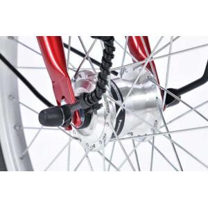 折り畳み自転車 20インチ6段変速オートライト付き折りたたみ自転車 マイパラスM-204MERRY  (レッド) (MYPALLAS M-204MERRY) 折畳み自転車|sas-ad|03