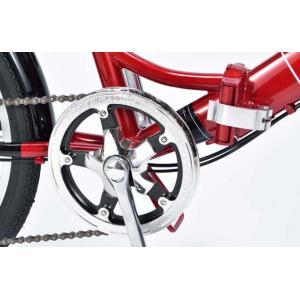 折り畳み自転車 20インチ6段変速オートライト付き折りたたみ自転車 マイパラスM-204MERRY  (レッド) (MYPALLAS M-204MERRY) 折畳み自転車|sas-ad|08