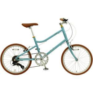 ミニベロ OSSO 18E310MV-AL emma (ライトブルー) オッソ 18 E310MV AL エマ 20インチ 小径自転車 sas-ad