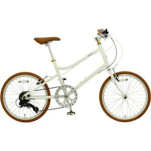 ミニベロ OSSO 18E310MV-AL emma (ホワイト) オッソ 18 E310MV AL エマ 20インチ 小径自転車 sas-ad