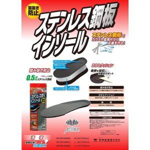 アクティカ ステンレス鋼板インソール 踏抜き防止  sasaki-materials
