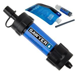 携帯浄水器 SAWYER ソーヤー ミニ SP128 ブルー ろ過器 世界のトップブランドで災害時も安心