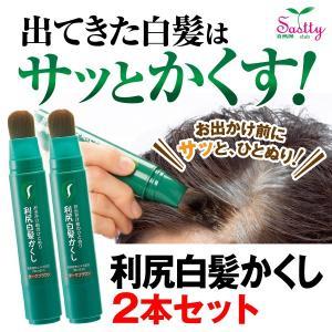 白髪用『無添加 利尻白髪かくし 2本セット』(レディース・メンズ しらが)|sastty-y