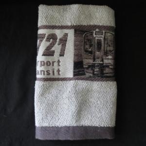 仙台空港鉄道SAT721系の車両イラストハンドタオルです。厚手の生地で実用的なハンドタオルとなってい...