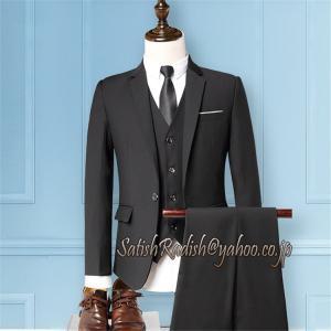 3ピーススーツ メンズ スリーピーススーツ 立体裁断 ビジネス シングルスーツ 通勤 入学式 結婚式...