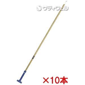 【送料無料】【直送専用品】テラモト FXハンドル 木柄L ブルー CL-374-140-3 10本セット|satiwel-y