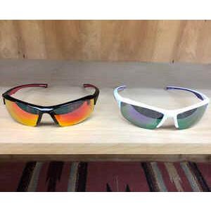ランニング用サングラス UVカット 軽量フレーム ずれにくい プラスチック ソフトケース付き ブラック ホワイト|satoh-sports