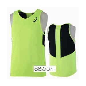 アシックス 39%OFF プラクティス ランニングシャツ メンズ 練習 レース本番 ポリエステル100% 蛍光イエロー×ブラック  ブラック×蛍光イエロー XT6390|satoh-sports