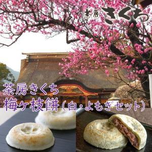 大福 茶房きくち 冷凍梅ヶ枝餅10個、冷凍梅ヶ枝餅(よもぎ)10個 セット