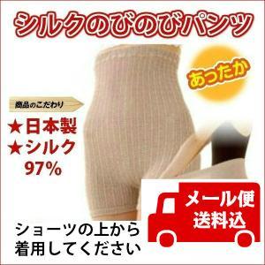 ゆうパケット 送料込 シルクのびのびパンツ シルク97% 絹 腹巻き クーラー対策 冷え対策 温活 日本製〔P〕|satuma