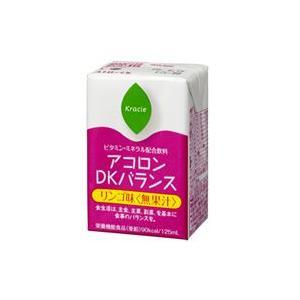 送料無料 ビタミン・ミネラル補給飲料 アコロンDKバランス リンゴ味 125ml×30本入 アルギニン 亜鉛 栄養補助 介護 寝たきり〔クラシエ〕|satuma