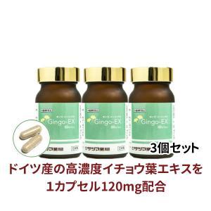 イチョウ葉エキス サプリメント Gingo-EX(ギンゴイーエックス) 60カプセル×3個セット 即納|satuma