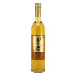 マンズワイン 万上 金箔入り梅酒 13度 500ml|satumagura