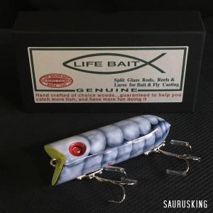 Lifebait ライフベイト ダーター Color:トルーパーシュリンプ 86mm 20g ウッド製トップウォータープラグ バスルアー|saurusking