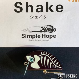 シンプルホープ Shake シェイク color:G-PKB / トップウォーターバスフィッシング|saurusking