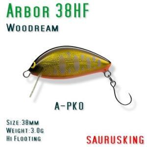Arbor 38HF A-PKO Woodream / アルボル パーマーク金黒オレンジベリー ハイフローティング ウッドリーム|saurusking