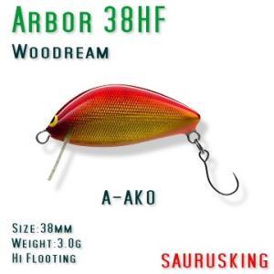 Arbor 38HF A-AKO Woodream / アルボル 赤金オレンジベリー ハイフローティング ウッドリーム saurusking