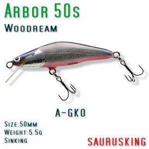 Arbor 50s A-GKO Woodream / アルボル 銀黒オレンジベリー シンキング ウッドリーム|saurusking