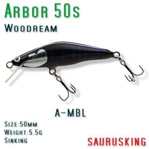 Arbor 50s A-MBL Woodream / アルボル 正影ブラック シンキング ウッドリーム|saurusking