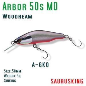 Arbor 50s MD A-GKO Woodream / アルボル 銀黒オレンジベリー シンキング ミディアムダイブ ウッドリーム|saurusking