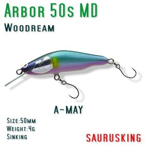 Arbor 50s MD A-MAY Woodream / アルボル 正影アユ シンキング ミディアムダイブ ウッドリーム|saurusking