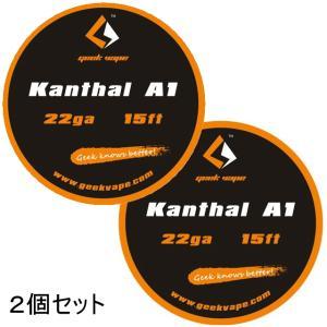 *1000均* VAPE Wire Kanthal A1 22Ga 15ft 2個セット / カンタル ワイヤー saurusking