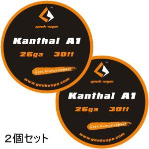 *1000均* VAPE Wire Kanthal A1 26Ga 30ft 2個セット / カンタル ワイヤー saurusking