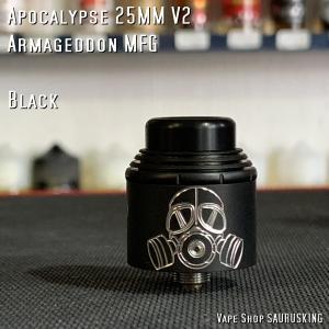 Apocalypse 25mm V2 Black by Armageddon MFG *正規品*VAPE|saurusking