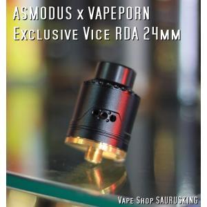 Asmodus X VAPEPORN Exclusive Vice RDA 24mm color:Black /  アスモダス エクスクルーシブバイス *正規品*Vape|saurusking