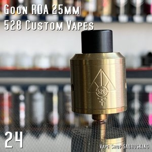 Goon RDA 24mm by 528 Custom Vapes Color:Brass / グーン 528カスタム *正規品* saurusking