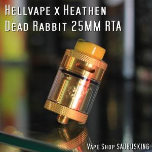 Hellvape Dead Rabbit 25mm RTA Color:Gold / ヘルベイプ デッドラビット  25mm*正規品* VAPE Atomizer saurusking